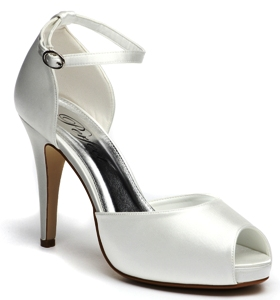 Kirsten by Perfect Ivory Dyeable Satin Shoes SALE