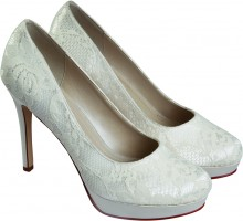Rainbow Club Ella Dyeable Lace Bridal Shoes Sale