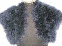 Soft Navy Real Feather Bolero