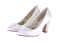 Rainbow Club Dinah Dyeable Satin Wedding Shoes