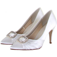 Rainbow Club Samantha Dyeable Satin Wedding Shoes