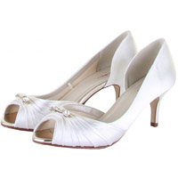 Rainbow Club Arabella Dyeable Satin Wedding Shoes