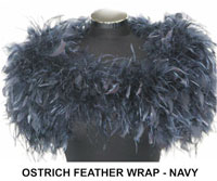 Ostrich Feather Wrap Navy