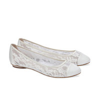 Paradox Pink Sweetie Ivory Lace Wedding Shoes