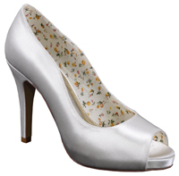 Perfect Bridal Shoes Polly Ivory Dyeable Satin