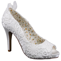 Perfect Bridal Shoes Polly Ivory Lace