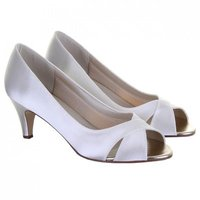 Rainbow Club Evie Dyeable Satin Wedding Shoes