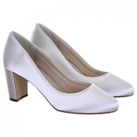 Rainbow Club Florence Dyeable Satin Wedding Shoes
