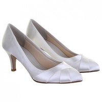 Rainbow Club Lexi Dyeable Satin Wedding Shoes