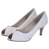 Rainbow Club Martha Dyeable Lace Wedding Shoes