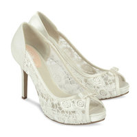 Ivory Bridal Shoes - Paradox Pink Zinnia