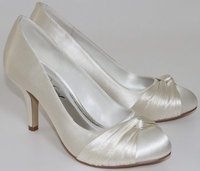 Perfect Bridal Shoes Grace Ivory Dyeable Satin