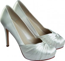 Rainbow Club Simone Satin Dyeable Wedding Shoes