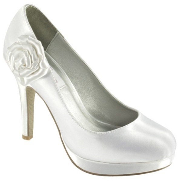 RRP 99 Dyeables Isla White Dyeable Wedding Shoes