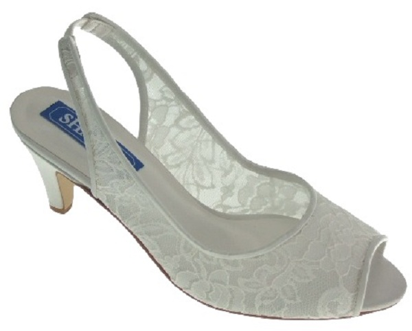 ivory lace slingback wedding shoes wedding shoes by perdita 39 s