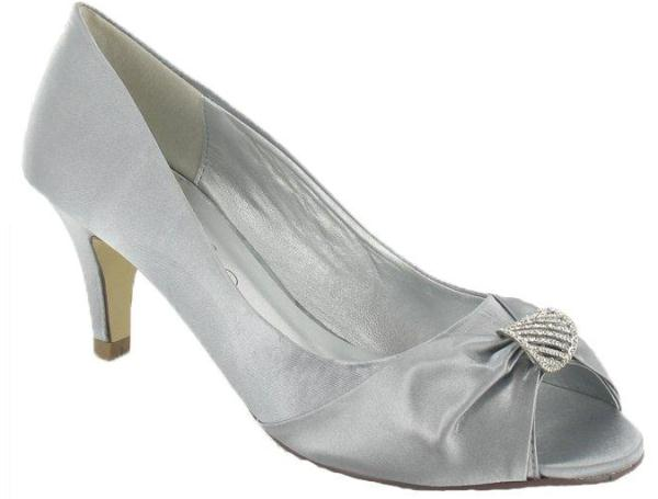 Lexus CA005 Anisha Grey Satin Occasion Shoes Wedding Shoes By Perdita 39 S