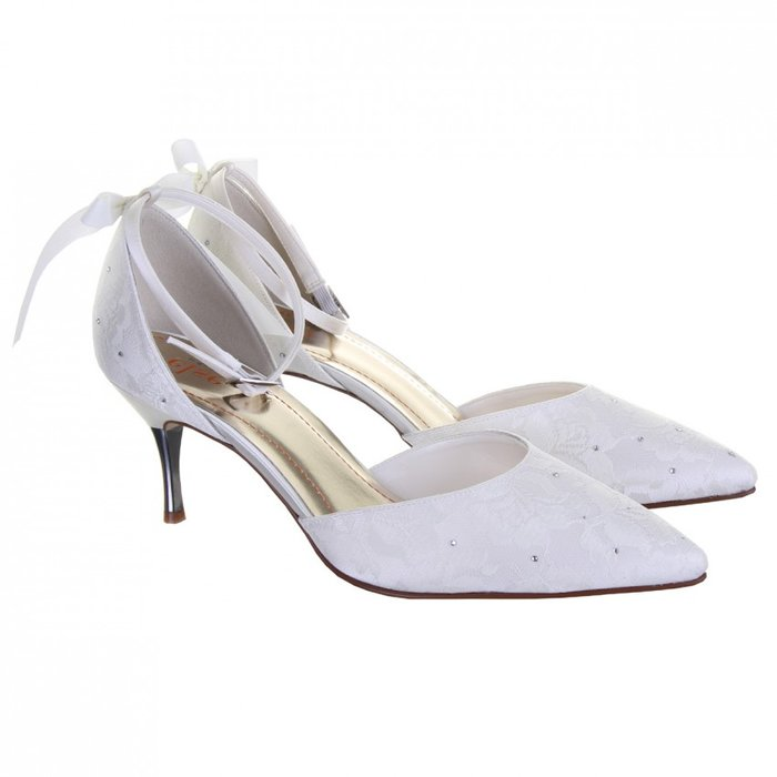 Else By Rainbow Club Fleurie Lace Wedding Shoes