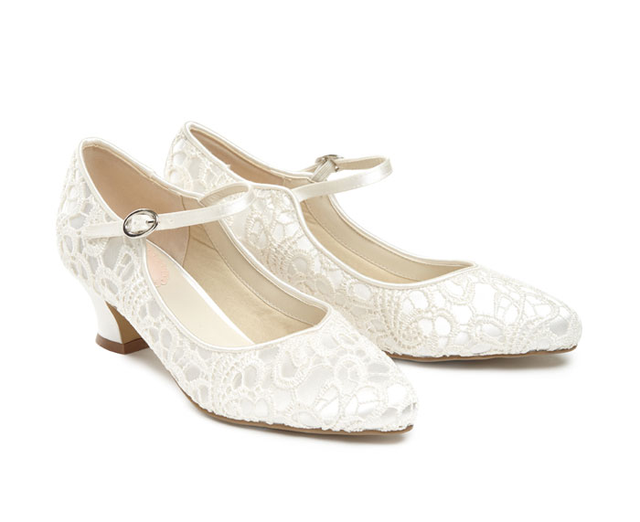Pink Wedding Shoes Low Heel: Perditas Wedding Shoes UK