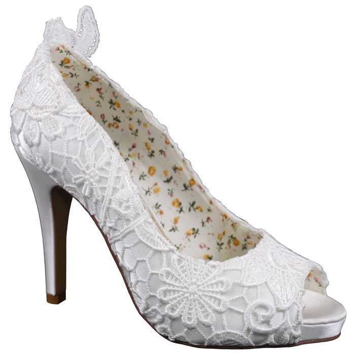Polly Ivory Lace Perfect Wedding Shoes By Perdita 39 S