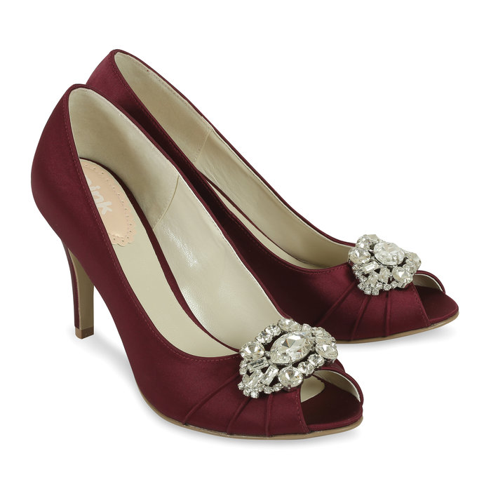 Burgundy Shoes Wide Fit