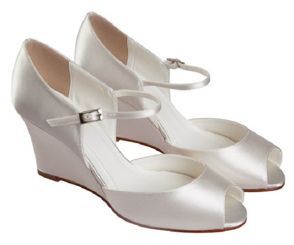 Else Bellini Ivory Dyeable Wedge Wedding Shoes Wedding Shoes By