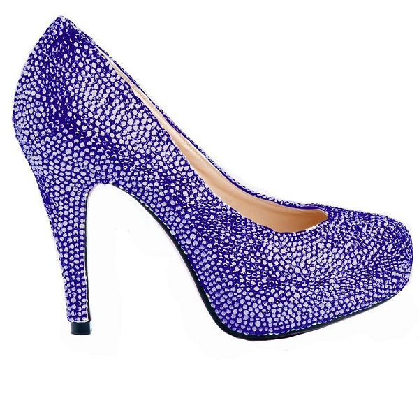 Purple Austrian Crystal Shoes Wedding shoes by Perdita 39s