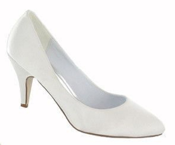 l2997 white satin court shoes sale wedding shoes by