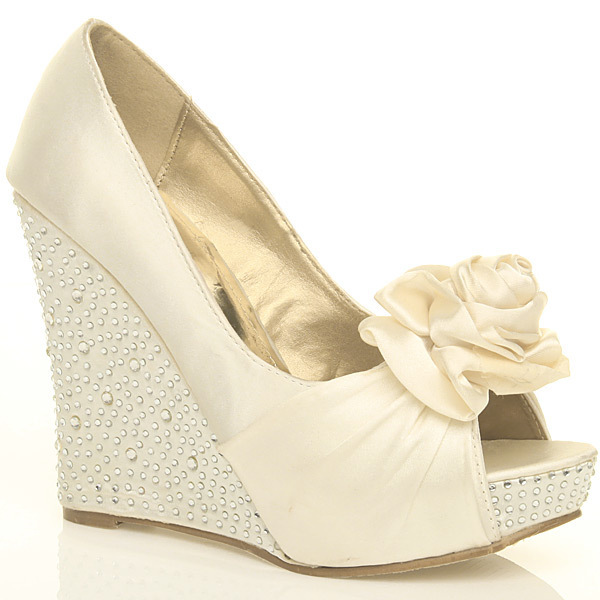 wedding shoes wedges ivory wedding ideas image by weddingdecorationshq