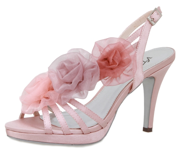 pink trim special occasion shoes